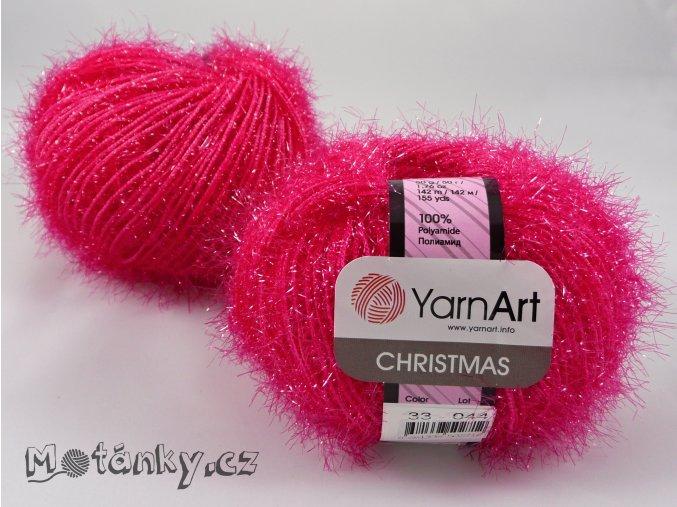 Christmas 33 tmavě růžová