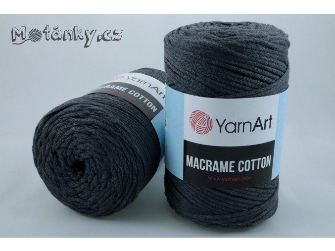 Macrame Cotton 758 tmavě šedá