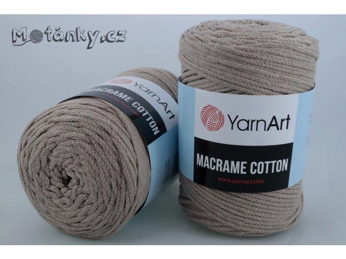 Macrame Cotton 768 tmavě béžová