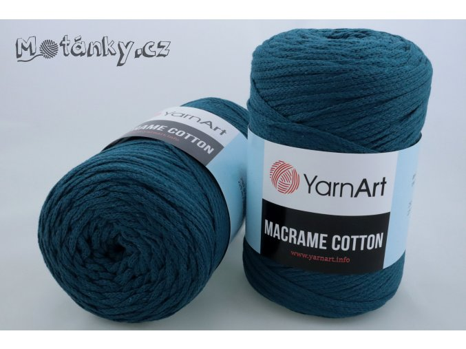 Macrame Cotton 789 petrolejová
