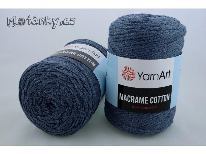 Macrame Cotton 761 šedomodrá
