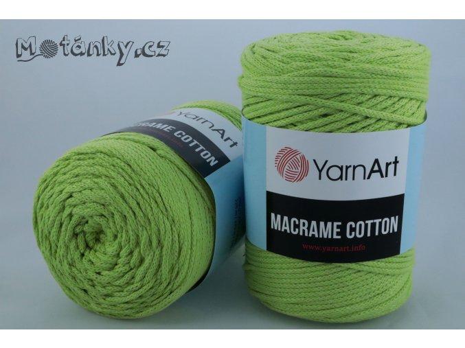 Macrame Cotton 755 zelenkavá