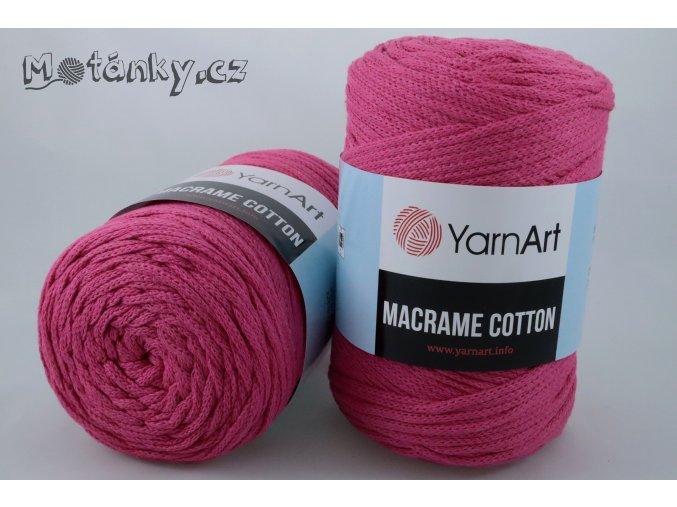 Macrame Cotton 771 tmavě růžová