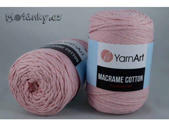 Macrame Cotton 762 světle růžová