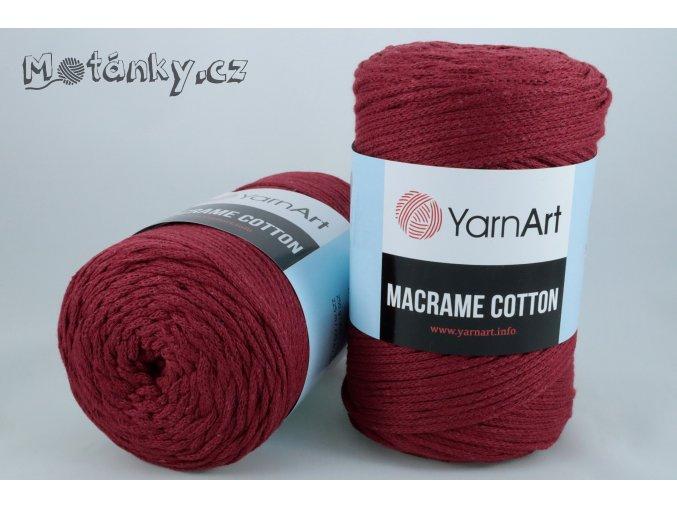 Macrame Cotton 781 bordová