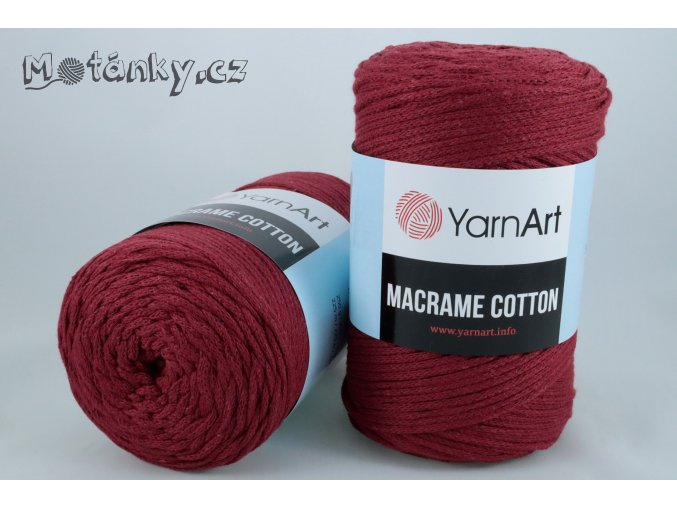 Macrame Cotton 781 bordová