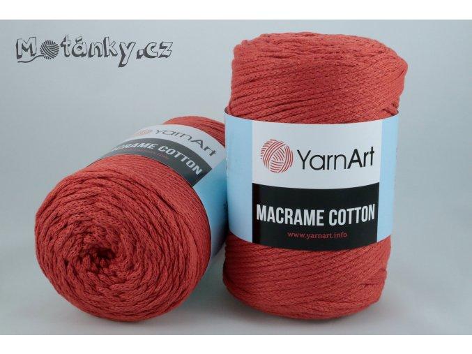 Macrame Cotton 785 cihlově červená