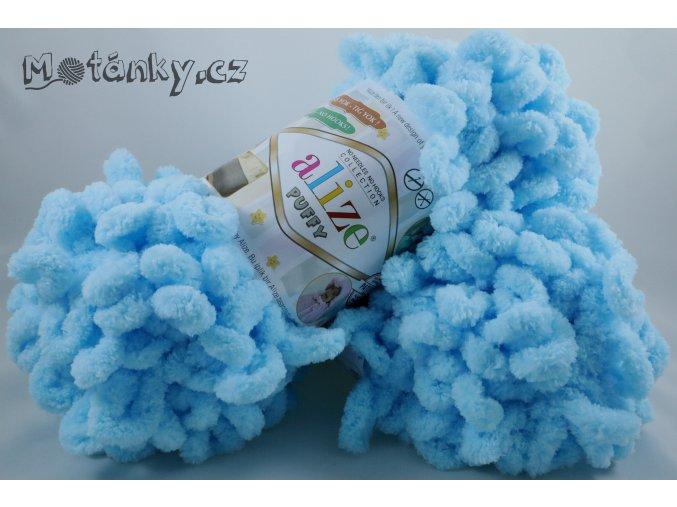 Puffy 287 modrá pastelová