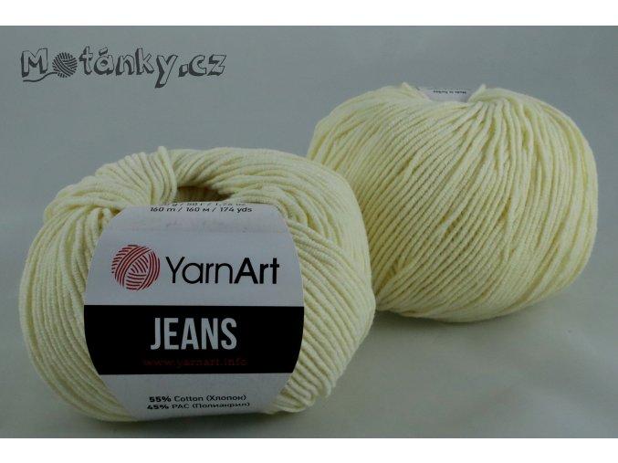 Jeans 86 světle vanilková