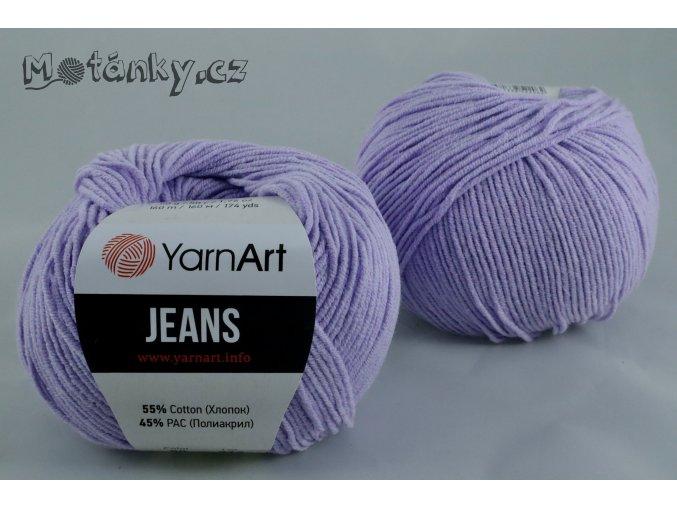Jeans 89 světle fialová