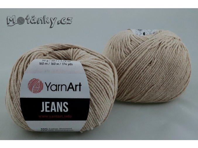 Jeans 87 světlý nugát