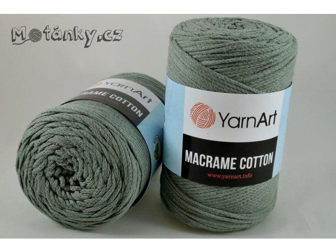 Macrame Cotton 794 šedozelená