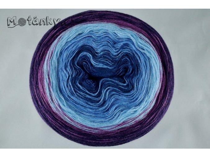 Duhovka  petrolej, modrá, sv.modrá, fialová, tm.fialová 1100m