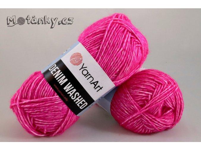 Denim Washed 903 neonově růžová