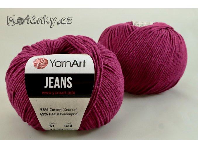 Jeans 91 purpurová