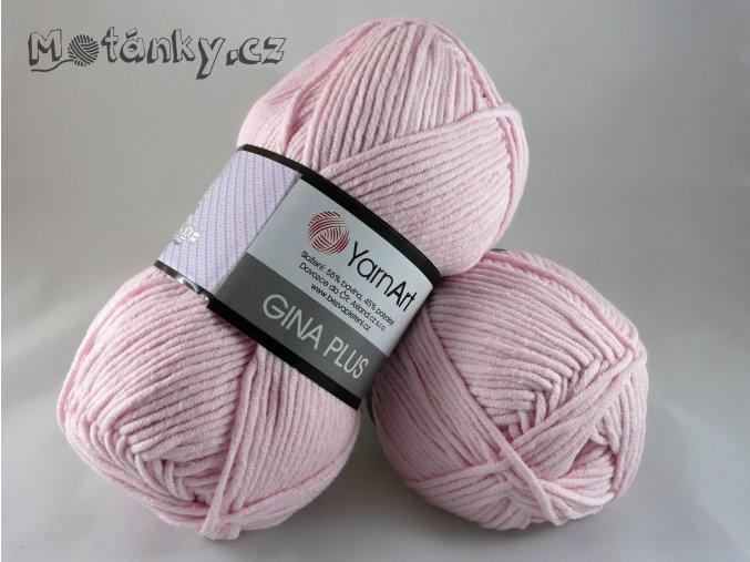Gina plus 74 pastelově růžová