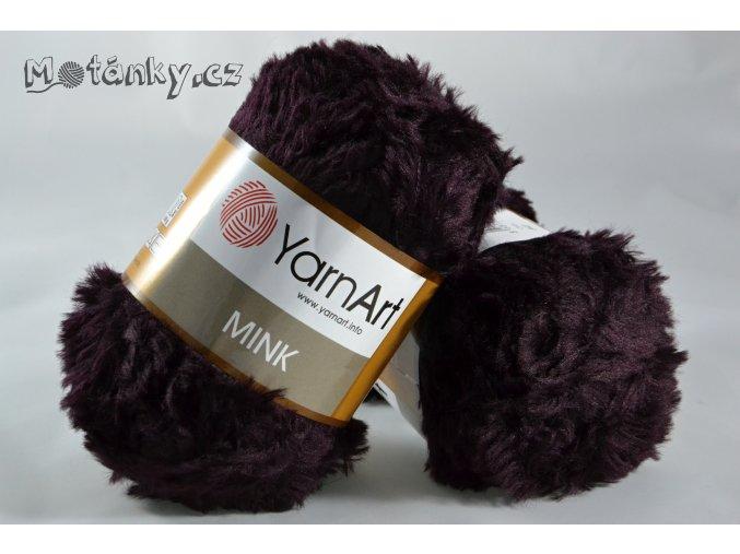 Mink 342 fialovohnědá
