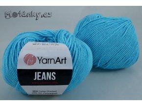 Jeans 33 světle tyrkysová