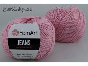 Jeans 36 světle růžová