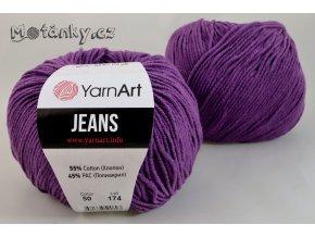 Jeans 50 tmavě fialová