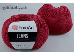 Jeans 51 tmavě červená