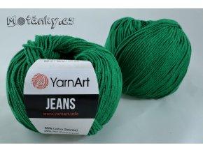 Jeans 52 trávově zelená
