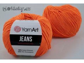 Jeans 77 neonově oranžová
