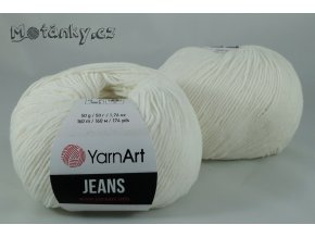 Jeans 01 bílá