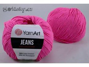 Jeans 59 neonově růžová
