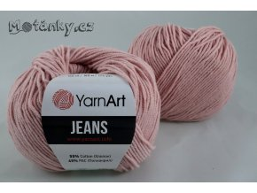 Jeans 83 světle starorůžová