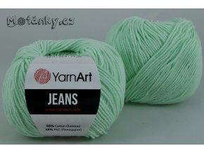 Jeans 79 pastelově zelená