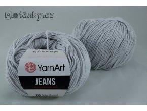 Jeans 80 světle šedá