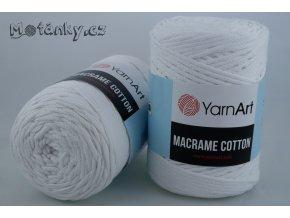 Macrame Cotton 751 bílá
