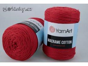 Macrame Cotton 772 červená
