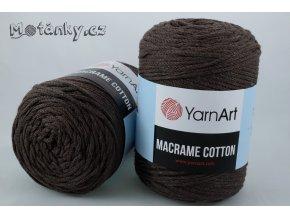 Macrame Cotton 775 hnědá
