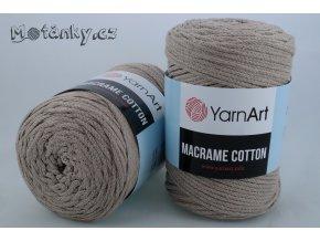 Macrame Cotton 786 hnědošedá