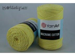 Macrame Cotton 754 světle žlutá