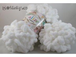 Puffy 055 bílá