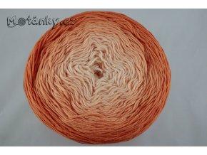 Bella ombre batik 7403 oranžová