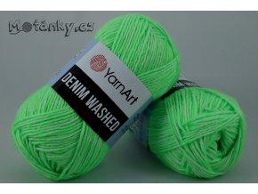 Denim Washed 912 neonově zelená