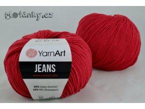 Jeans 90 červená