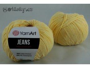 Jeans 88 tmavá vanilka