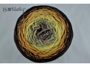 Rainbow Cake 510b tm. béžová, sv. žlutá, hořčicová, hnědá