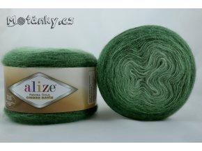 Angora gold ombre batik 7297 tmavě zelená