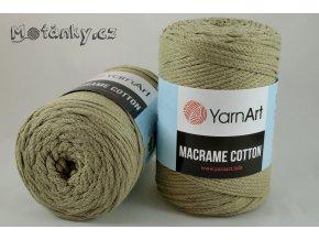 Macrame Cotton 793 světlá khaki