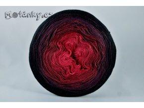 Duhovka červená, bordó, vínová, černá 1100m