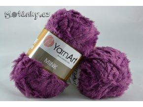 Mink 338 fialovorůžová
