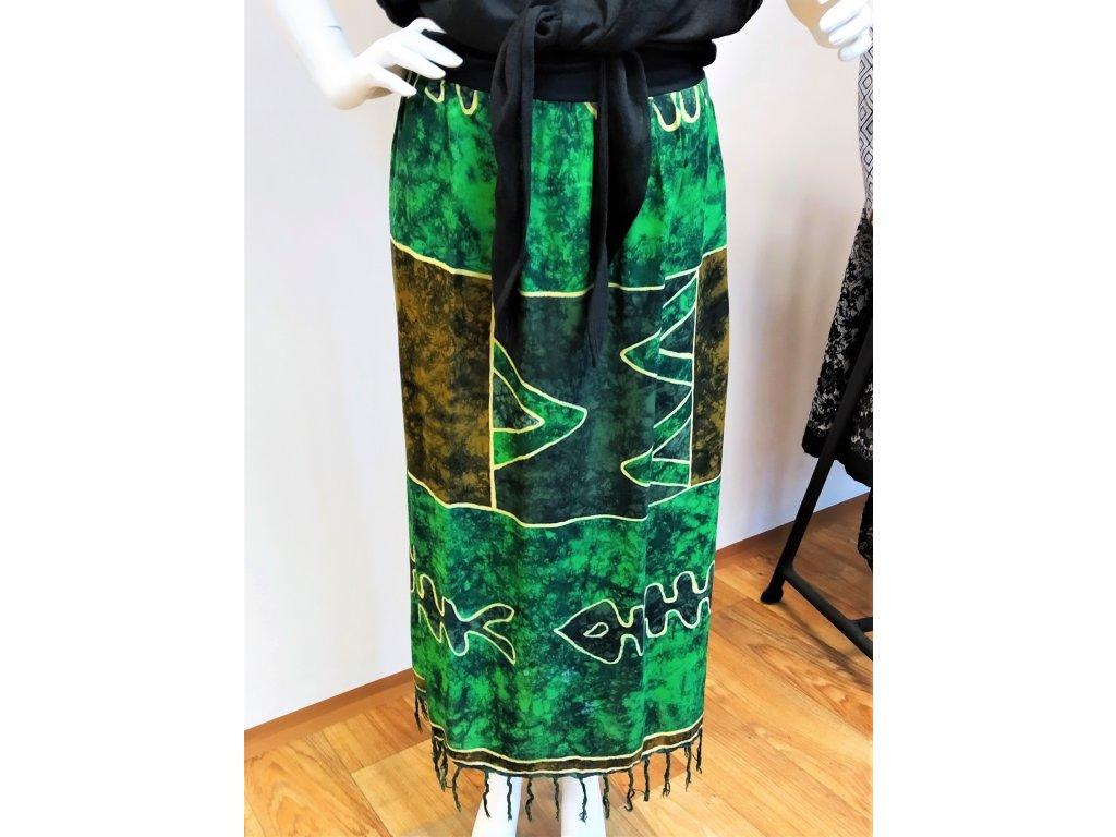 Dlouhá zelená sukně