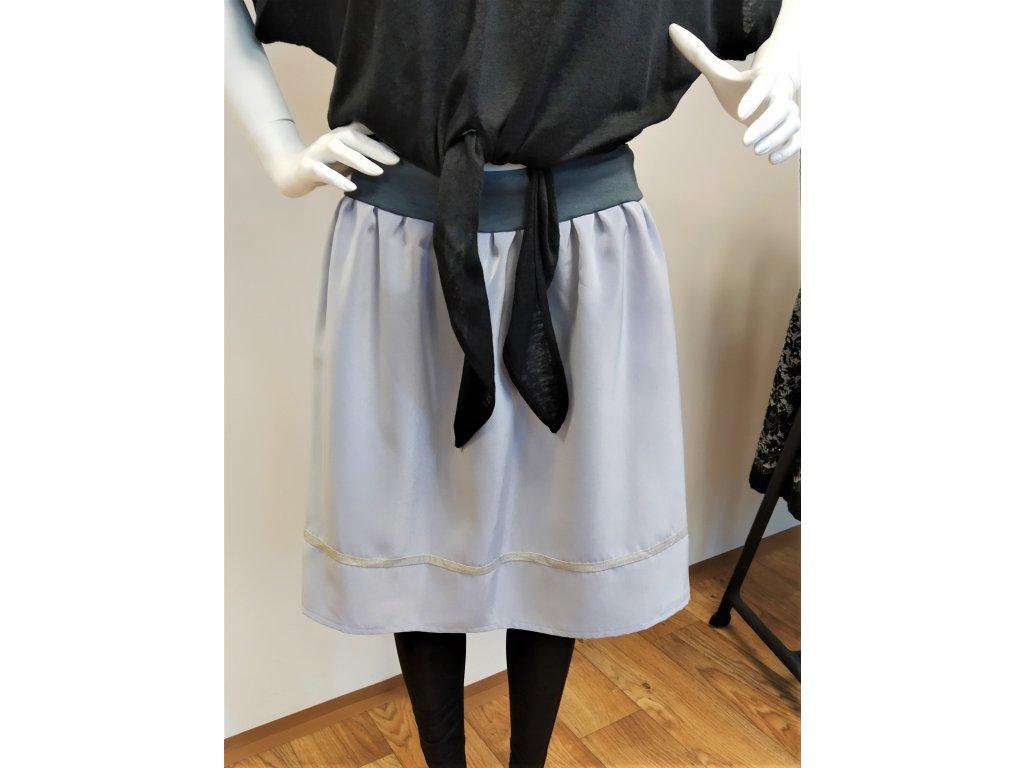 Šedo-modrá sukně