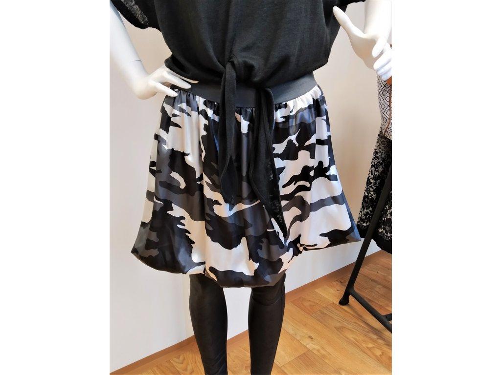 Bílo-černá sukně